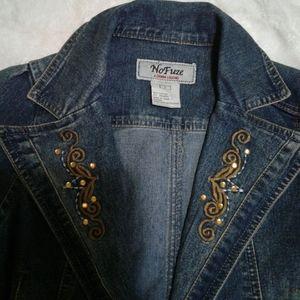 Nofuze western denim crop top jacket